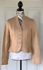 Wilson's Leather Women's Small Rose Beige Soft Leather Blazer Jacket Casual