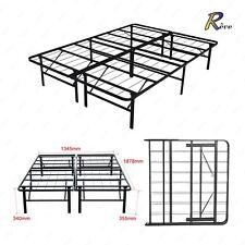 Modern Full Size Folding Bi-Fold Platform Metal Bed Frame Mattress Foundation