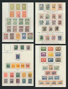 BOLIVIA STAMPS 1899-1916 INC 1897 SET WITH Sc #53/4 MOG, 1909 REVOLUTION & #96