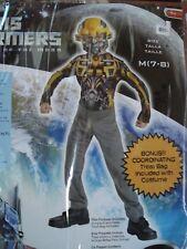 NEW Disguise Boys Halloween Costume Transformers Dark Moon Bumblebee Size 7-8