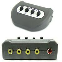 4 Port SINGLE RCA Manual SELECTOR Sharing Switch BOX VIDEO ONE RCA 4:1 Switch
