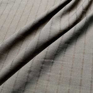 100% Cotton fabric - Jacquard check design - Khaki green - Light weight