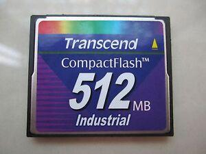Transcend Industrial 512MB CompactFlash Card CF Memory CARD