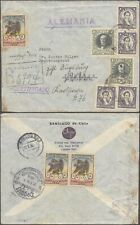 Chile 1936 - Registered Cover to Germany - Olympics V17/17