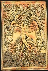 Tapestry Indian Tie Dye Printed Wall Hanging Poster Celtic Tree Hippie Decorate