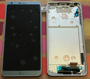 GENUINE ICE PLATINUM LG G6 H870 REPLACEMENT SCREEN FRAME DISPLAY LCD ACQ89384001