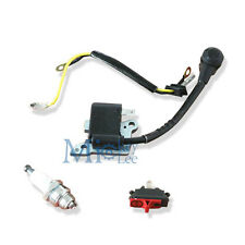 Ignition Coil & Switch & Spark Plug Fits Husqvarna 137 142 Chainsaw Engine