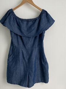 Dotti Short Overalls / Playsuit Size 10 Blue Denim Pockets. Hardly Worn