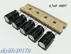 5 pz Condensatori elettrolitici 4,7uF 400V - 5 pezzi condensatore VALVOLARI HIFI