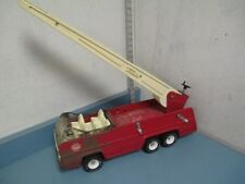 Vintage Used Red Metal Pressed Steel Tonka XR-101 Fire Engine Truck with Ladder