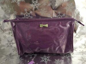 ❤️LIZ CLAIBORNE Lavender MAKE UP COSMETIC HAND BAG CLUTCH POUCH EUC