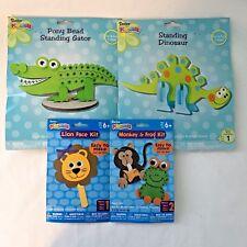 Kids Crafts Dinosaur Alligator Lion Frog Monkey Foam Kits Easy and Fun Gift