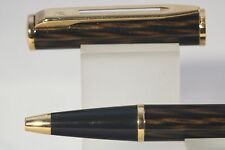 Waterman Laureat MKII Shadowed Amber Ballpoint Pen with Gold Trim