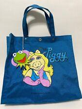 🌟Rare 1982 Vintage Original Miss Piggy Tote Bag Tag Muppets Cartoon Jim Henson