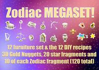 ACNH Zodiac Megaset (Animal Crossing New Horizons Zodiac set + DIY + Goodies)