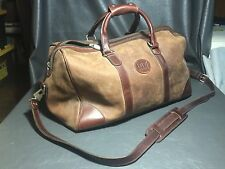 "ROOTS CANADA LEATHER MEDIUM DUFFEL BROWN BAG 20"" TV Land Nick at Nite"