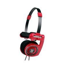 Auriculares rojos diadema de audio portátil