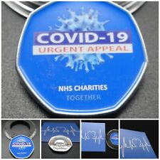 NHS Charities Together 50p Coin Medal COA Rainbow Hope ThankYou % Charity Coin