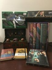 Harry Potter Collection: HARDCOVER 1-4 Books, Quidditch Set, Wand, Apron, DVD, J