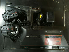 Sega Master System w/ PS Controllers Control Stick Light Phaser A/V Cable Tested