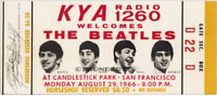 1  BEATLES VINTAGE UNUSED FULL CONCERT TICKET 1966 Candlestick Park laminated yl