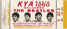1  BEATLES VINTAGE UNUSED FULL CONCERT TICKET 1966 Candlestick Park laminated yl