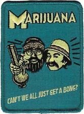 """Cheech and Chong Can't We All Just Get A Bong Iron On Patch 3.75"""" x 3"""" Free Ship"""