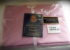 ONE PAIR OF PINK EGYPTIAN COTTON COMPANY PILLOWCASES 50X75CM 180 THREAD COUNT