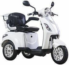 NEW 3 Wheeled WHITE ZT15B 20AH 500W Electric Mobility Scooter FREE FAST DELIVERY
