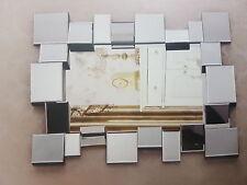 Modern Engraved Mirror Wall rectangular Mirror Grove Mirrors Home Decorations