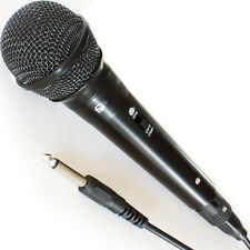 "Handheld Dynamic Microphone - Wired DJ/PA Stage Karaoke & ¼"" Cable for Singing"
