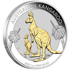 Australien - 1 Dollar 2020 - Kangaroo / Känguru - Teilveredelt - 1 Oz Silber ST