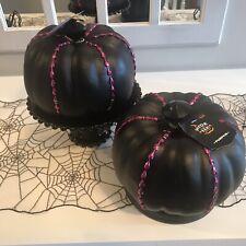 Target Hyde and EEK Black Pumpkin W Fuchsia Beading Jeweled Halloween Decor