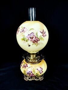 Victorian Fostoria Banquet Oil Lamp