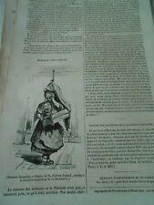 Berceau Finlandais  Gravure Old Print 1842