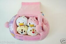 V Rare! Disney Store Japan Tsum Tsum 2015 Easter Daisy Bag 4 Piece With Tag