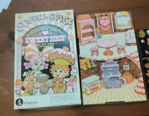 Vintage Sugar & Spice Sweet Shop Colorforms Play Set 1981 Used & Almost complete