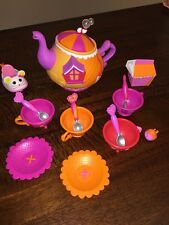 ~LALALOOPSY SEW MAGICAL TEA SET~ 15 Pcs Replacement Tea Pot Cups Spoons Extras