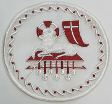 Lamb Of God Agnus Dei Liturgical Embroidered Sew On Applique Patch Vestment
