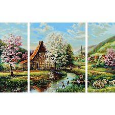 ländliche Idylle SCHIPPER Triptychon Malen nach Zahlen 609260664