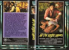 ALL THE RIGHT MOVES-Tom Cruise  -VHS -PAL -NEW-Never played!-Original Oz release