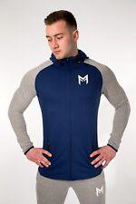 Muscle Fitness Factory MFit Hoodie Blue Grey Medium TD088 EE 14