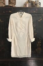 CP COMPANY ITALY Cream Silk Shirt Dress