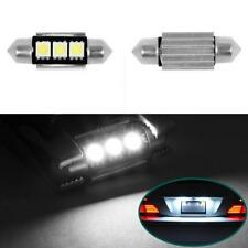 2pcs No Error License plate Light 6411 6418 C5W 3 SMD LED bulb for Mercedes Benz