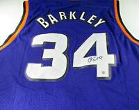 CHARLES BARKLEY / HALL OF FAME / AUTOGRAPHED PHOENIX SUNS PRO STYLE JERSEY / COA