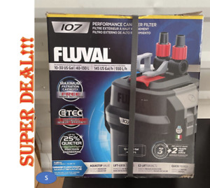 Fluval 107 Performance Canister Filter 10-30 Gallons BRAND NEW DAMAGE BOX