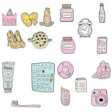 Ticket Phone Enamel Brooch Badge Pins Creative Sweet Pink Cartoon Candy Movie