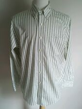 Brooks Brothers Makers Shirt Mens M Non Iron Green Striped