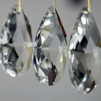 10Pcs Clear Chandelier Glass Crystal Lamp Pendants Faceted Prism Drop Decoration