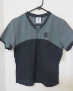 Small Adult Cannondale Bike Cycling 1/5 Zipper Gray Short Sleeve Shirt